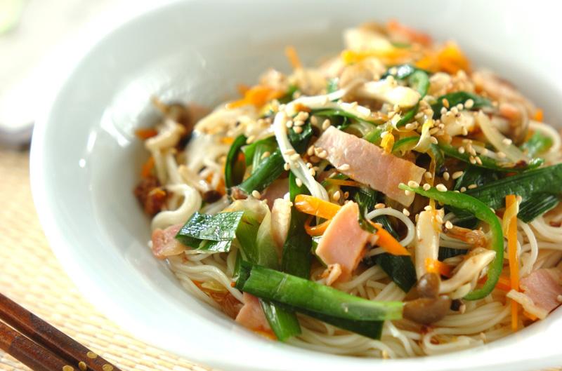 炒め素麺の作り方の手順