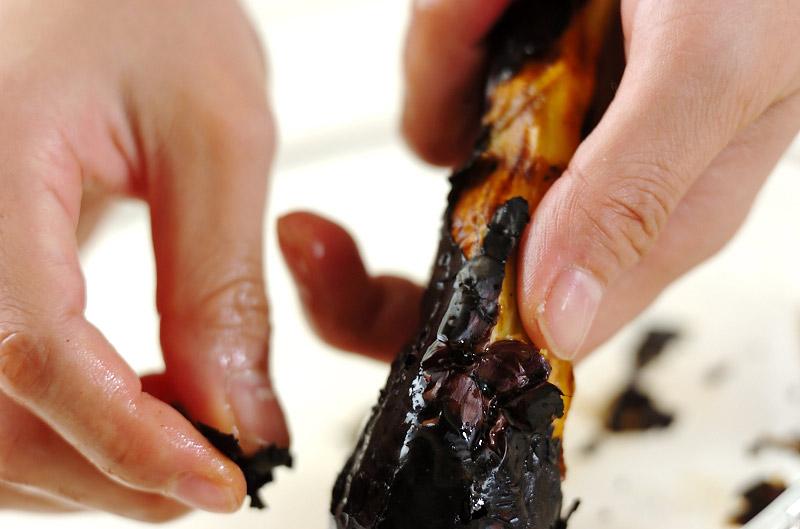焼きナスの赤だしの作り方の手順3