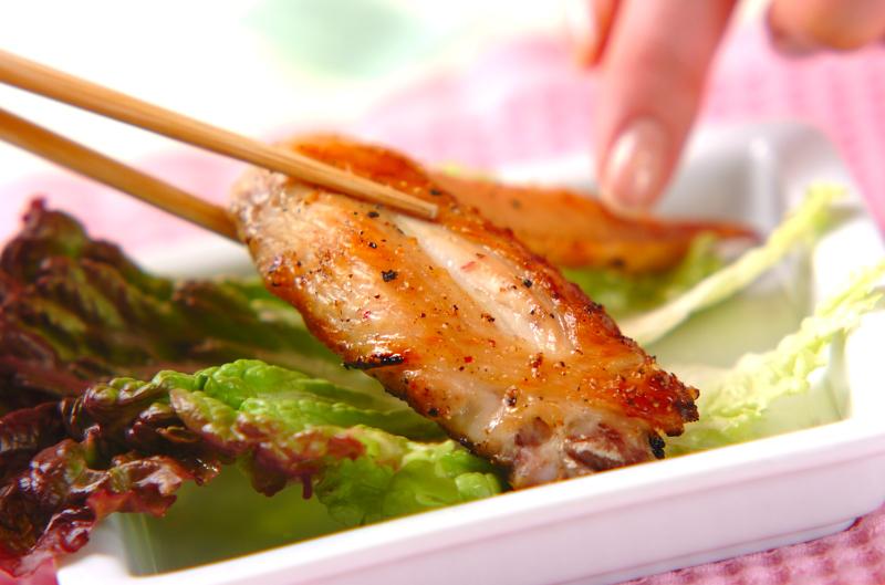 鶏手羽先の塩焼きの作り方の手順7