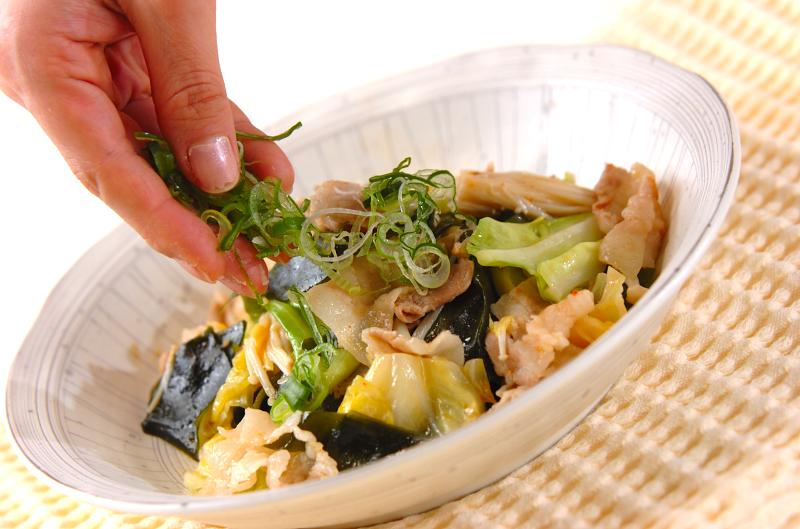 豚肉とキャベツの炒め物の作り方の手順9