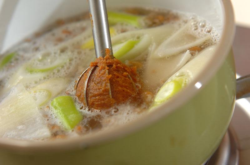 納豆のみそ汁の作り方2