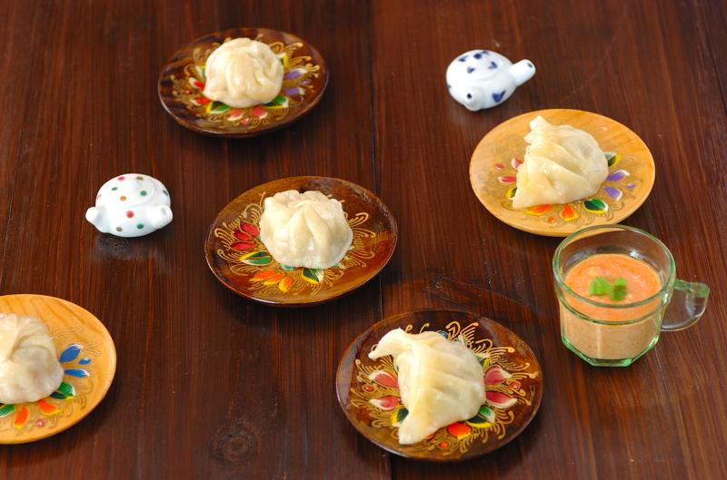モモ(ネパール版蒸し餃子)の作り方の手順