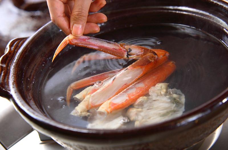 野菜たっぷり!あったかカニ鍋の作り方の手順11
