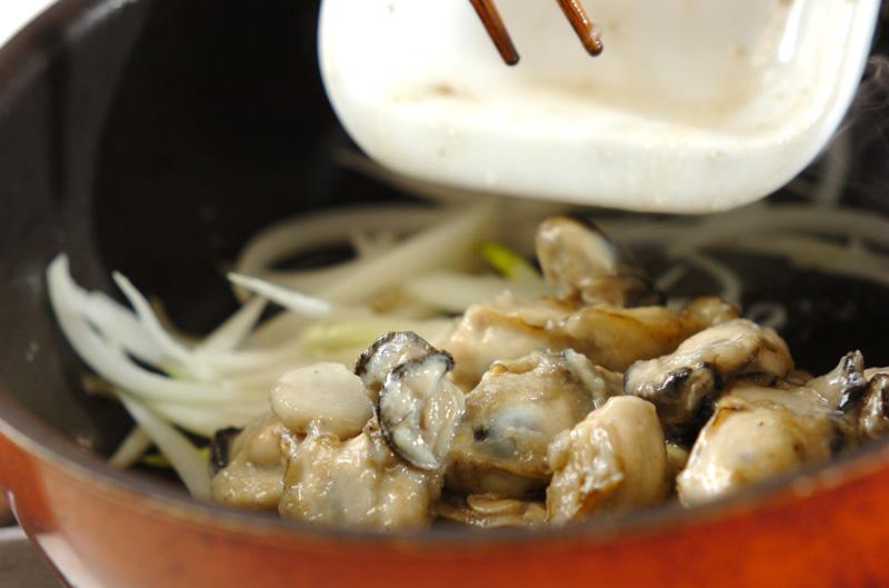 カキとソラ豆のクリーム煮の作り方の手順2