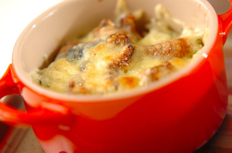 簡単焼き鳥チーズ焼きご飯の作り方の手順3