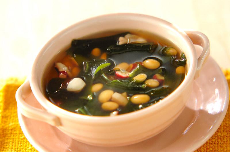 タコと大豆のスープの作り方の手順