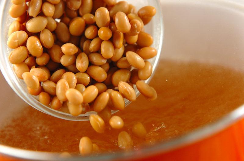 タコと大豆のスープの作り方の手順4
