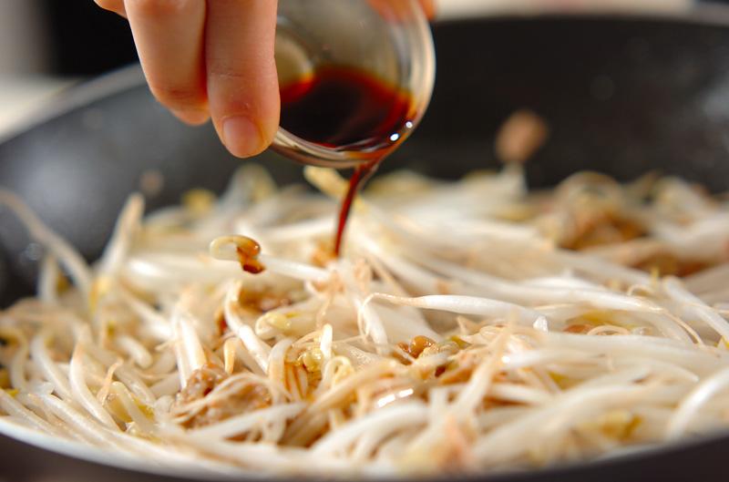 モヤシの納豆炒めの作り方の手順3