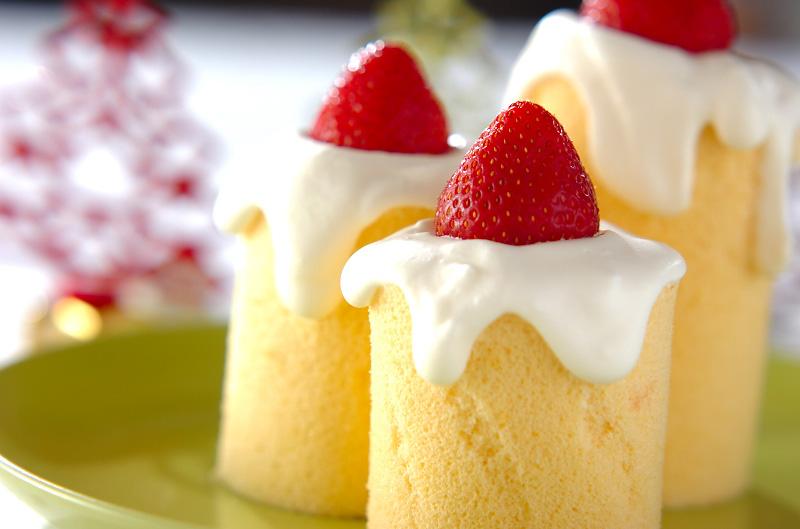 キャンドルロールケーキ
