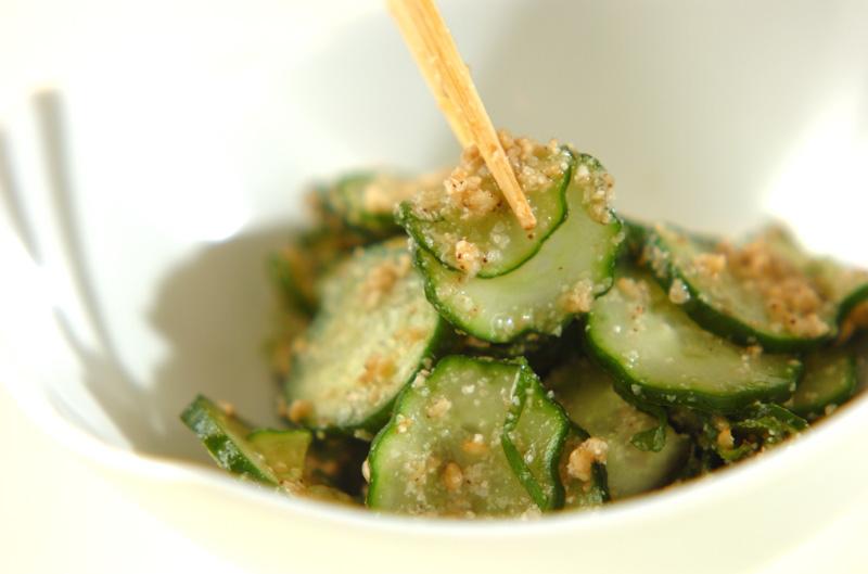 キュウリと大葉のゴマ酢和えの作り方の手順4