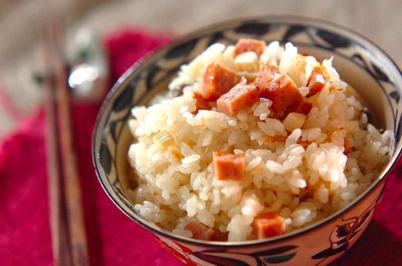 フカヒレ炊き込みご飯の作り方の手順