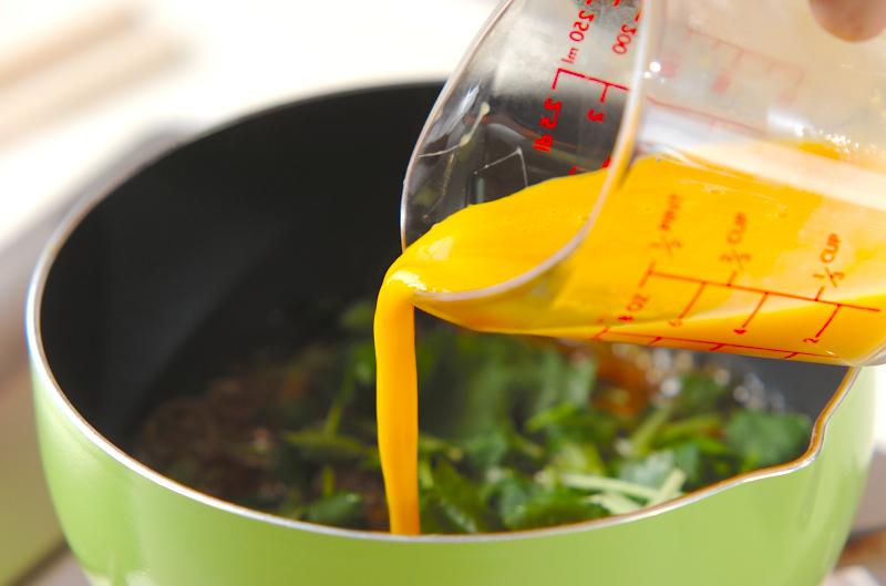 ウナギの卵とじの作り方2