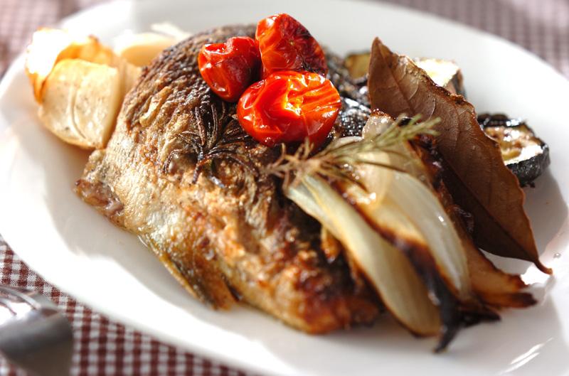 イサキと野菜のオーブン焼きの作り方の手順