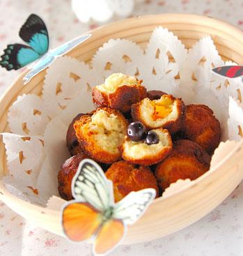 フルーツ入りドーナツの作り方の手順