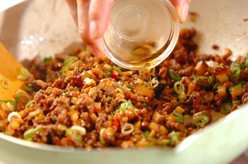 ひき肉納豆のレタス包みの作り方の手順7