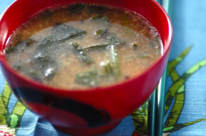 ヒジキ入りゴマみそ汁の作り方の手順