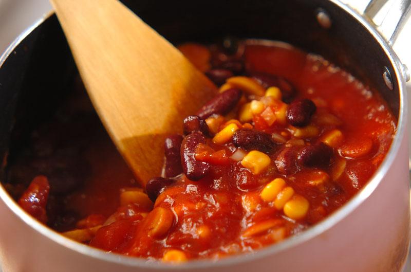 ソーセージと豆のトマト煮の作り方2