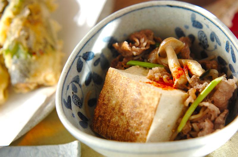 牛肉豆腐の作り方の手順