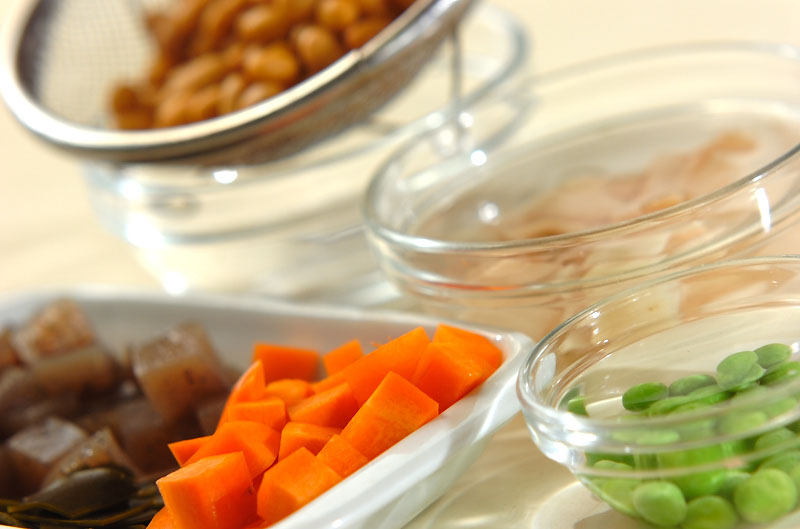 豚肉入り大豆の煮物の作り方の手順1