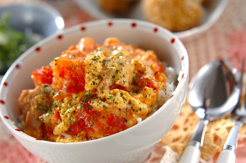 トロトロトマト丼の作り方の手順