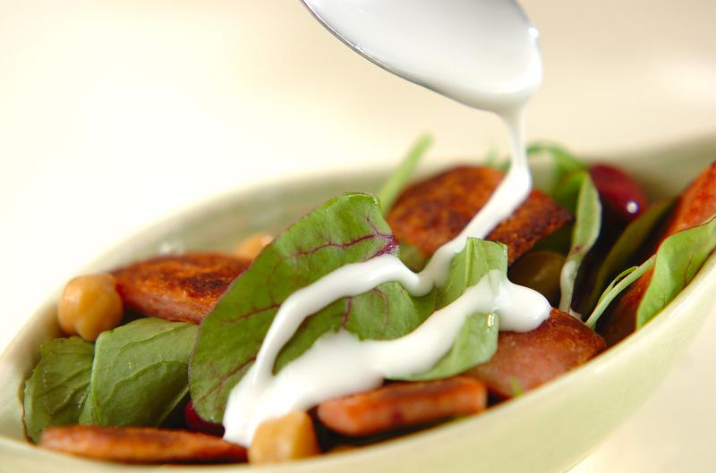 カリカリポークのサラダの作り方2