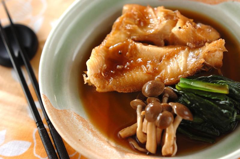 赤魚と小松菜の煮付け