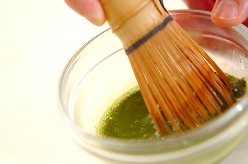 抹茶ミルクプリンの作り方の手順1