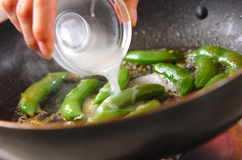 スナップエンドウ炒めの作り方の手順5