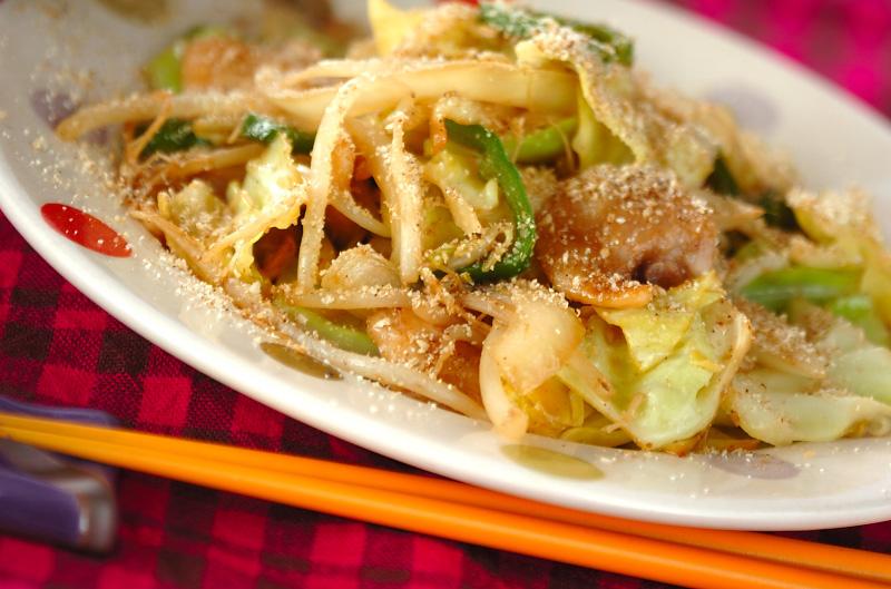 サッパリ野菜炒めの作り方の手順