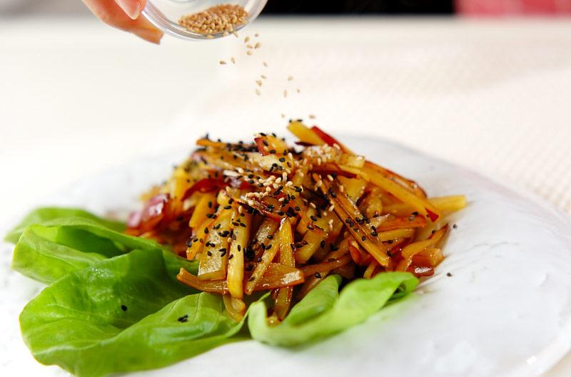 サツマイモのきんぴら炒めの作り方の手順3