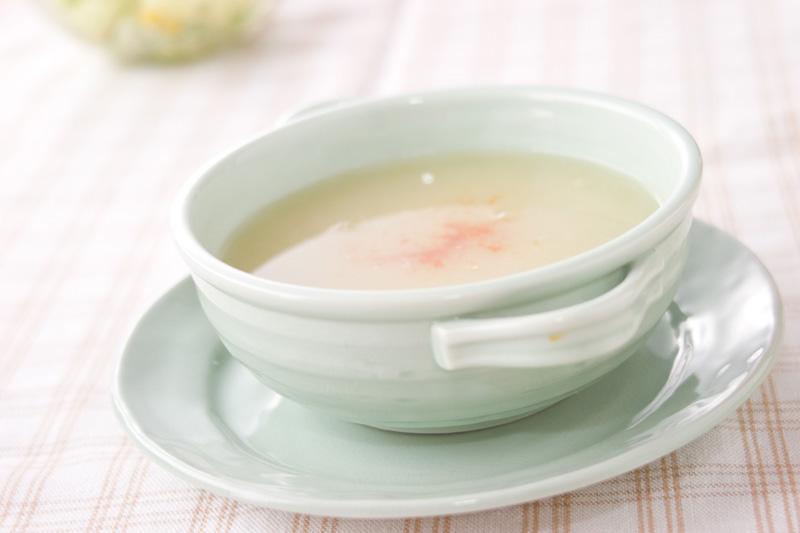 新玉ネギのスープの作り方の手順