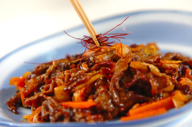 牛肉とキムチの炒め物の作り方2