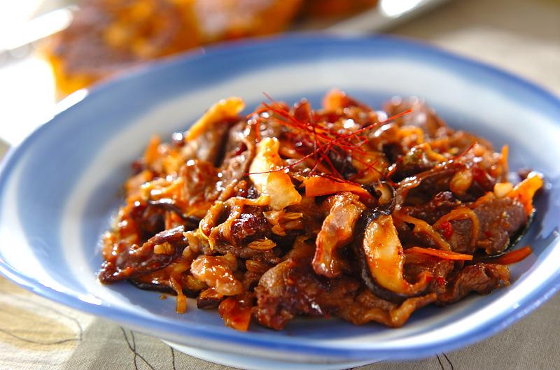 牛肉とキムチの炒め物の作り方の手順