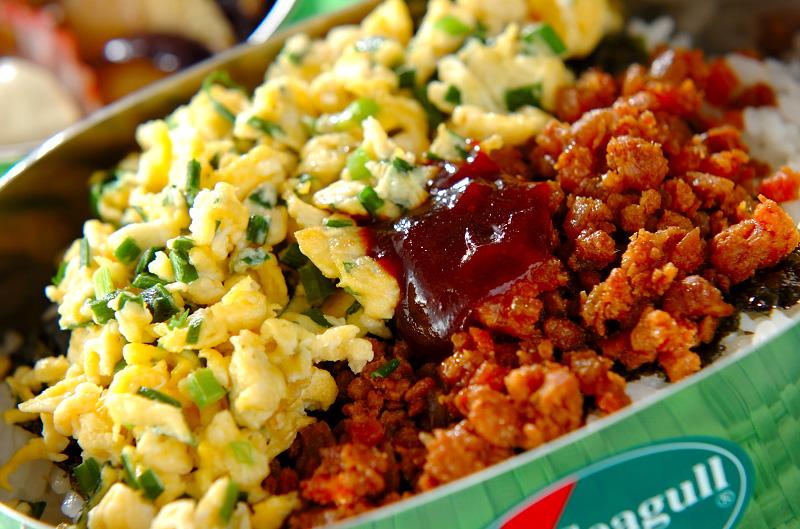 韓国風三色丼