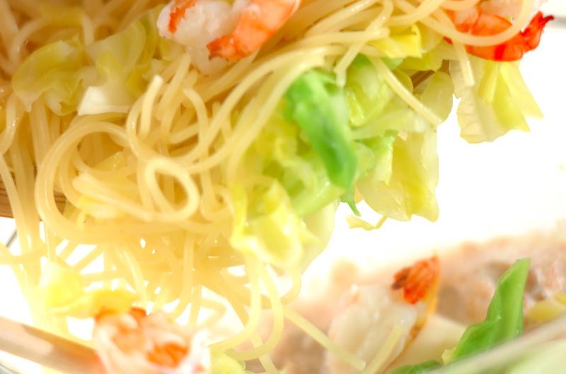 明太子クリーミースパゲティの作り方の手順5