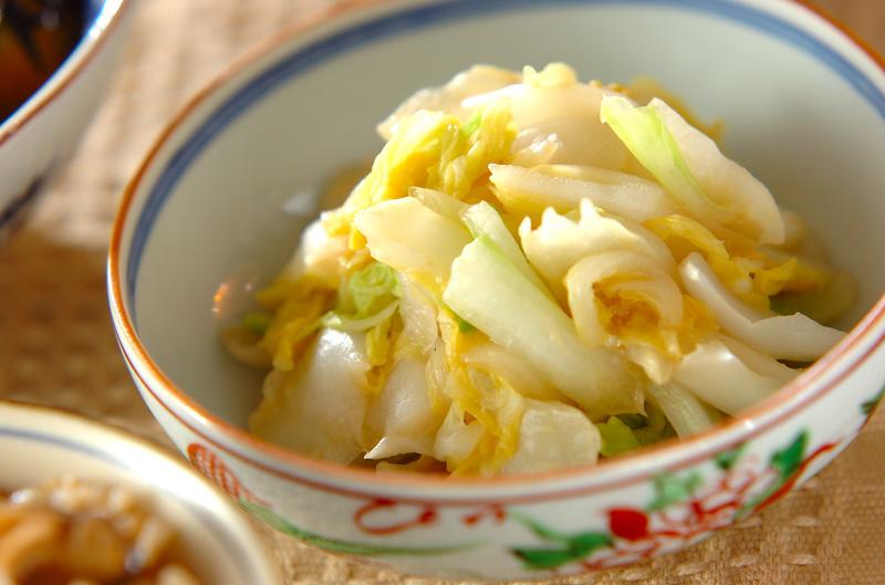 白菜のからししょうゆ和えの作り方の手順