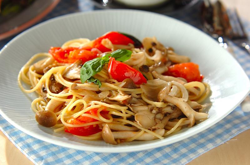 キノコのスパゲティーの作り方の手順