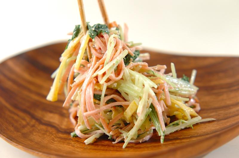 水菜とたくあんのゴママヨ和えの作り方の手順4