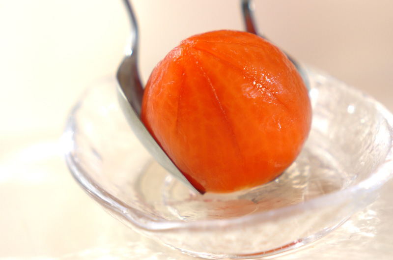 冷やしトマトのデザートの作り方の手順3
