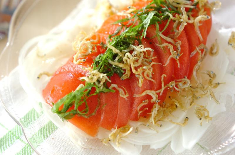 トマトと大葉のサラダの作り方の手順