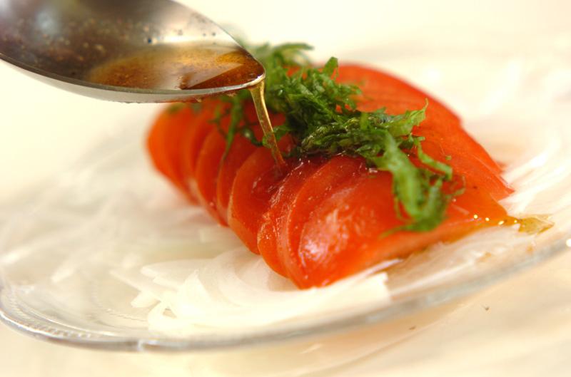 トマトと大葉のサラダの作り方の手順5