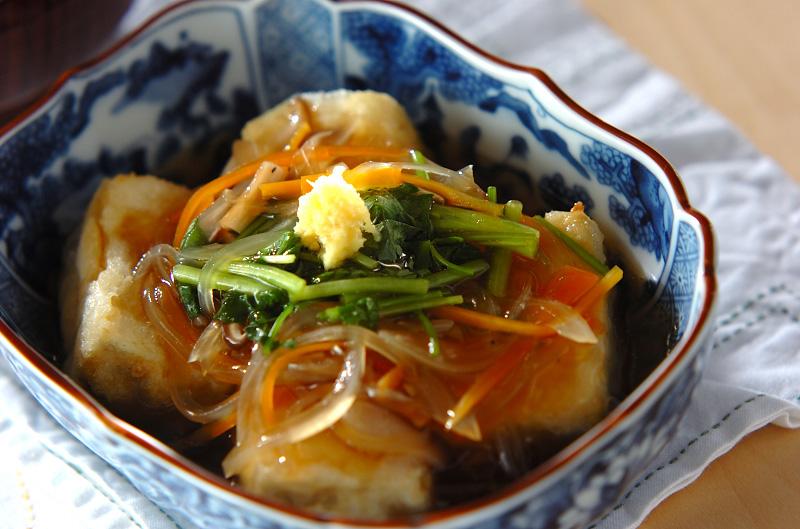揚げ 出し 豆腐 あんかけ 【みんなが作ってる】 あげだし豆腐 あんかけのレシピ