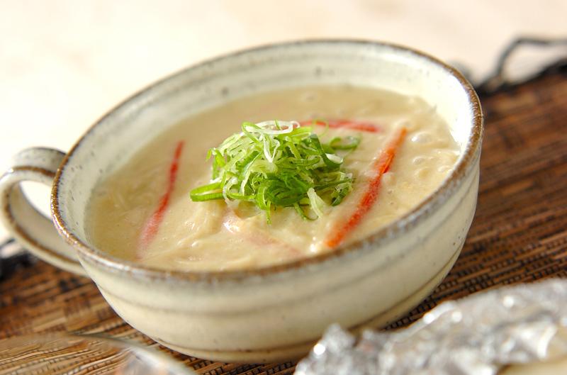 豆乳トロミ素麺の作り方の手順