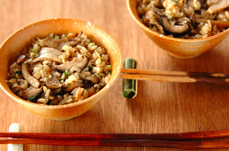 冷凍キノコの炊き込みご飯