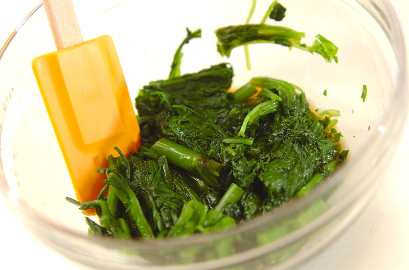 菊菜のお浸しの作り方1