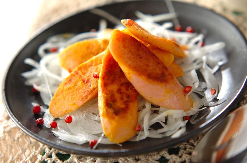 魚肉ソーセージのマスタード焼きの作り方の手順