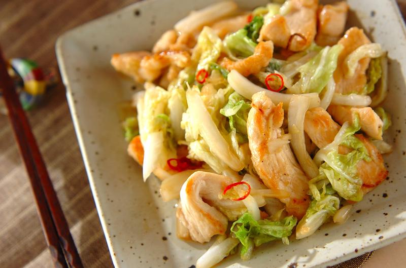 白菜と鶏肉のシャッキリ炒めの作り方の手順