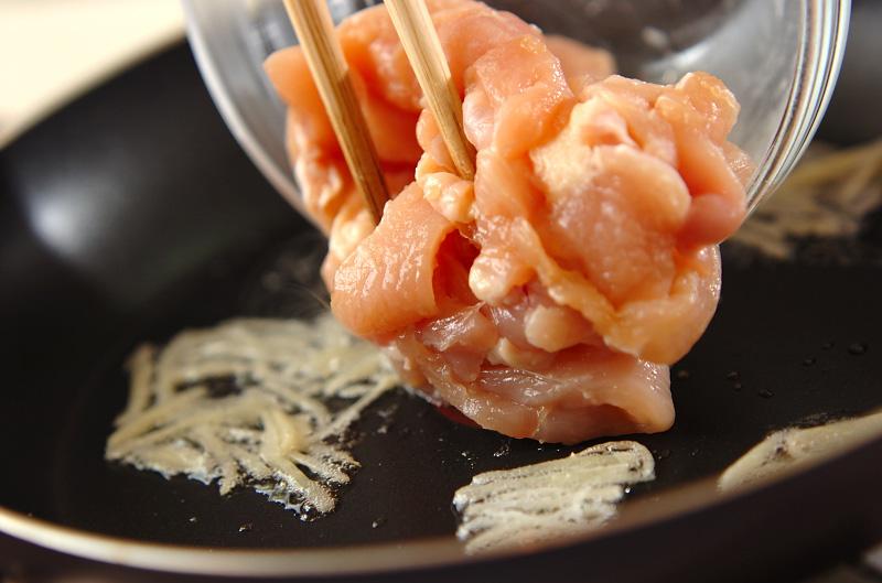 白菜と鶏肉のシャッキリ炒めの作り方の手順5