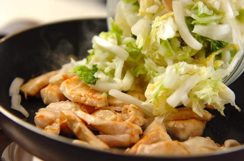 白菜と鶏肉のシャッキリ炒めの作り方の手順6