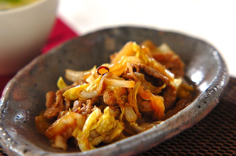 白菜の甘酢炒め